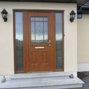 Light Oak Cairo Palladio Door, Composite Door, Entrance Door, Front Door