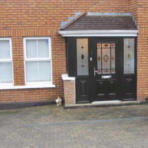 Black Bog Oak Cairo Front Door