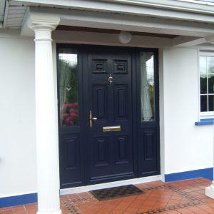 Blue Georgian Solid Front Door