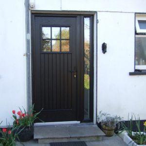Dublin Style Front Door In Bog Oak