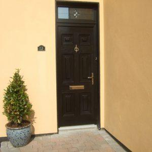 Georgian Solid Front Door In Bog Oak