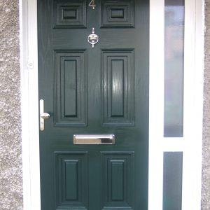 Georgian Solid Front Door In Green