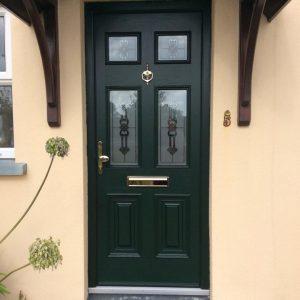 Green Georgian 2 Composite Door