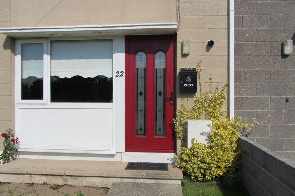 Red San Marco Composite Front Door