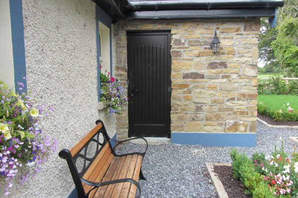 T & G Solid Bog Oak Composite Front Door