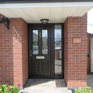 Palermo Light Oak Composite Front Door