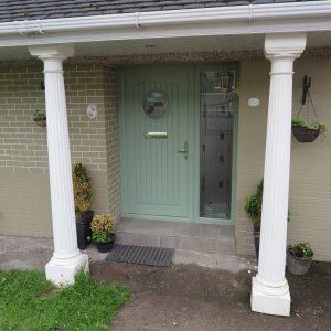 Viking Green Composite Front Door