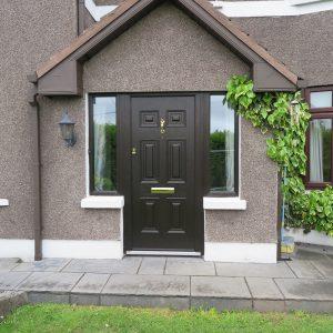 Bog Oak Georgian Solid Front Door
