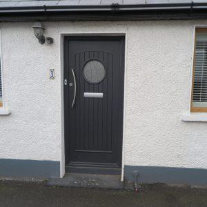 Viking Dark Grey Composite Front Door