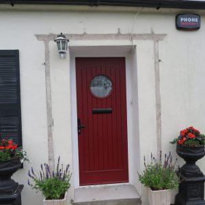 Viking Dark Cherry Red Composite Front Door
