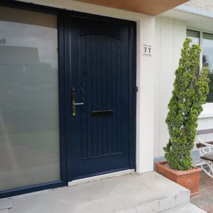 T & G Blue Solid Composite Front Door