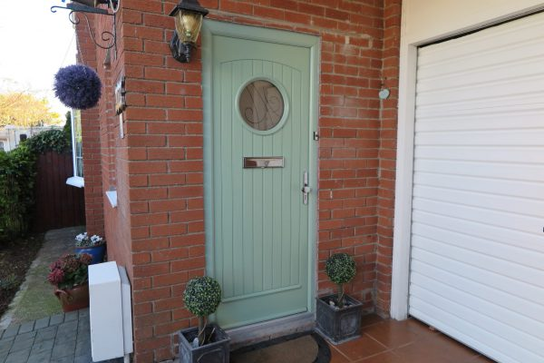 Viking Composite Green Front Door