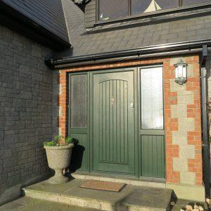 T & G Solid Composite Green Front Door