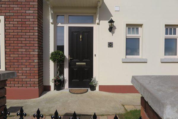 Palermo Solid Front Door In Bog Oak