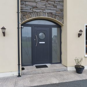 Viking Composite Antracite Grey Front Door