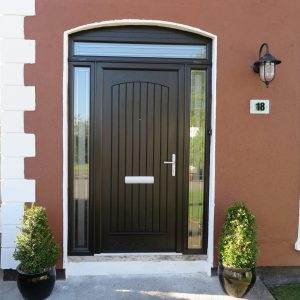 T & G Solid Bog Oak Composite Front Door