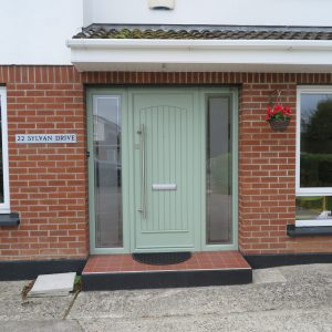 T & G Solid Chartwell Green Composite Front Door