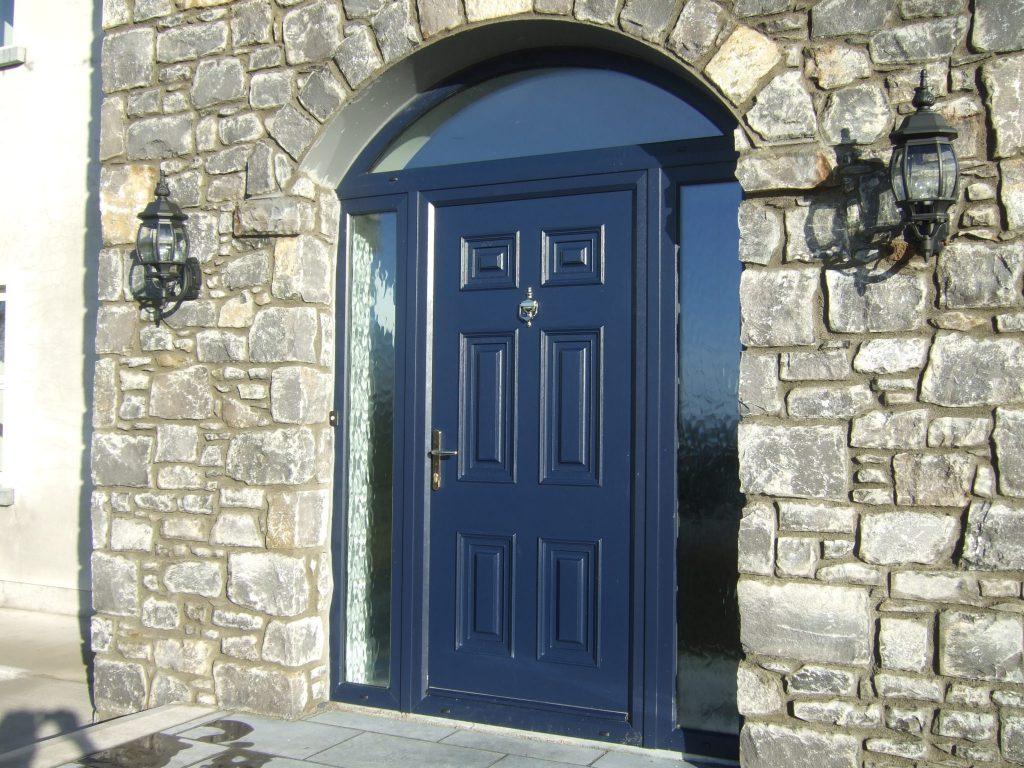Blue Georgian Solid Front Door Palladio Doors