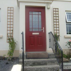 Red Cairo Bog Oak Front Door