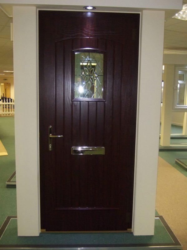 T & G Solid Composite Rosewood Front Door