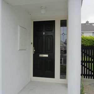 Bog Oak Georgian Solid Front Door