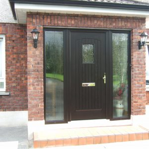 T & G Solid Composite Big Oak Front Door