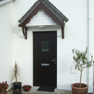 T & G Solid Composite Bog Oak Front Door