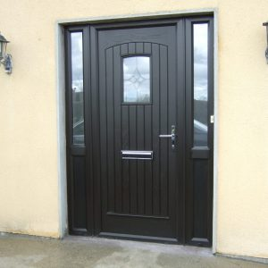 T & G Bog Oak Solid Composite Front Door