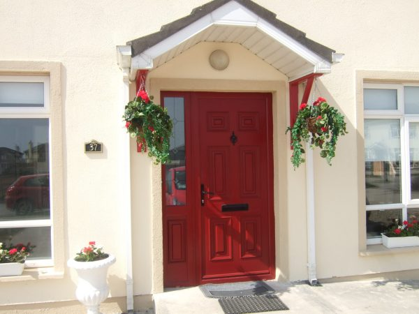 Red Georgian Solid Door