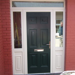 Georgian Solid Door In Bog Oak