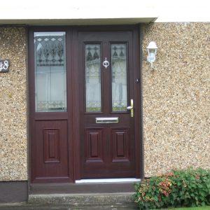 Palermo Composite Front Door In Rosewood