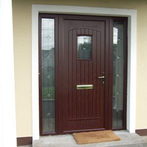 T & G Rosewood Solid Composite Front Door