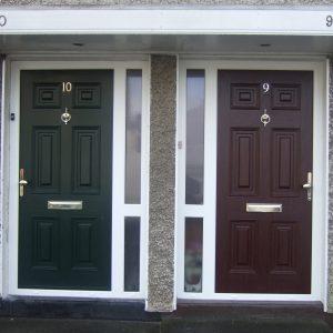Green Georgian Solid Front Door