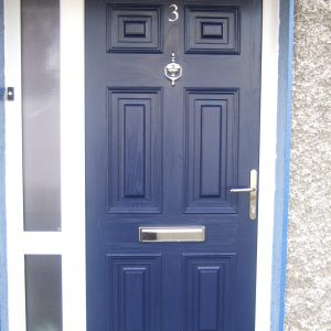 Georgian Solid Door In Blue