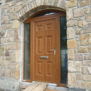 Light Oak Georgian Solid Front Door