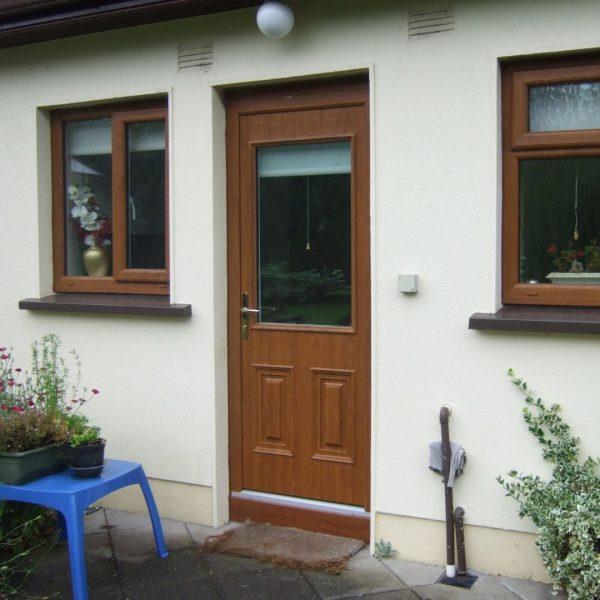 Light Oak Naples Style Composite Front Door