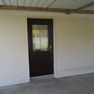 Naples Style Rosewood Composite Front Door