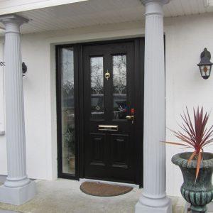 Palermo Composite Front Door In Bog Oak