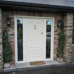 Palermo Cream Solid Front Door In Bog Oak