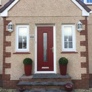 Red Seville Composite Front Door