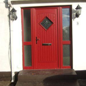 Red Edinburgh Red Front Door