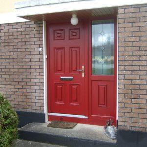 Red Georgian Solid Front Door