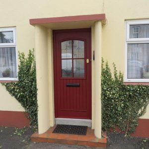 Red San Tiago Composite Front Door