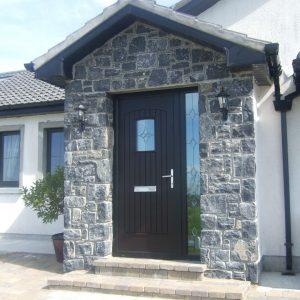 T & G Bog Oak Solid Composite Door