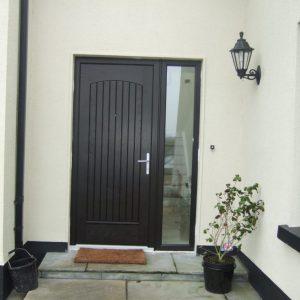 T & G Bog Oak Solid Composite Front Door