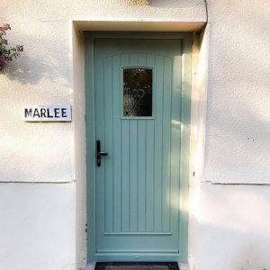 T & G Solid Chartwell Green Composite Front Door