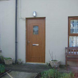 T & G Solid Composite Light Oak Front Door