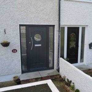 Viking Anthracite Grey Composite Front Door