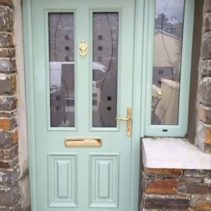 Chartwell Green Glazed Palermo Door, Composite Door, entrance door, front door,